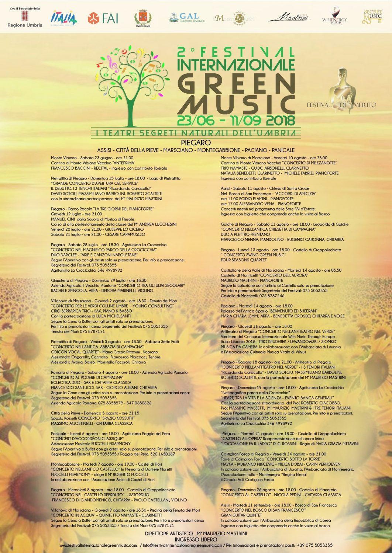 Locandina Festival Internazionale Green Music 2018